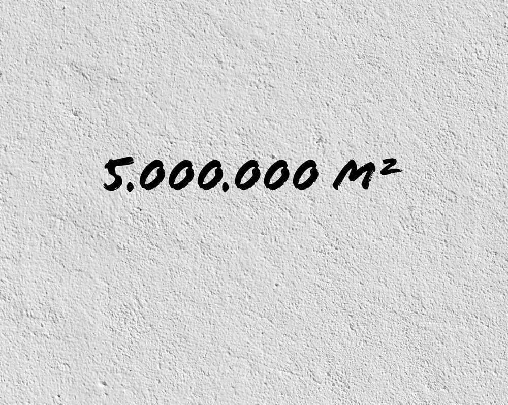 5 Millionen Quadratmeter